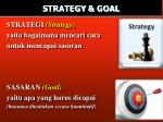 strategy goal