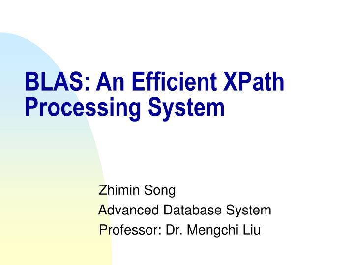 Blas an efficient xpath processing system