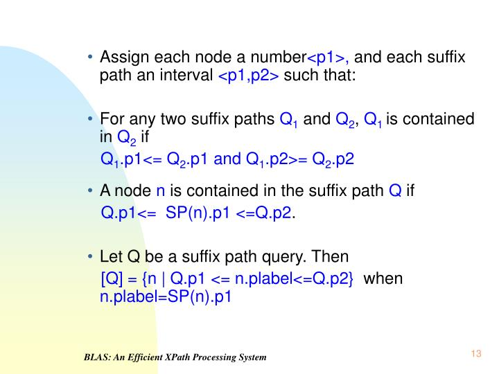 Assign each node a number