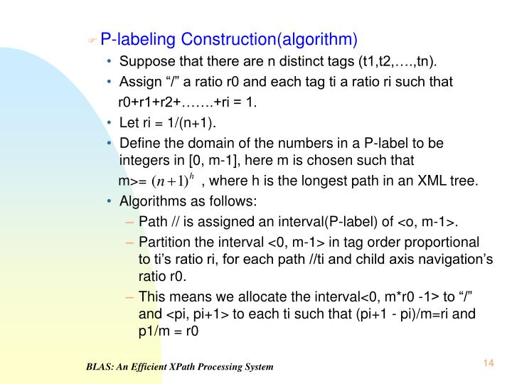 P-labeling Construction(algorithm)