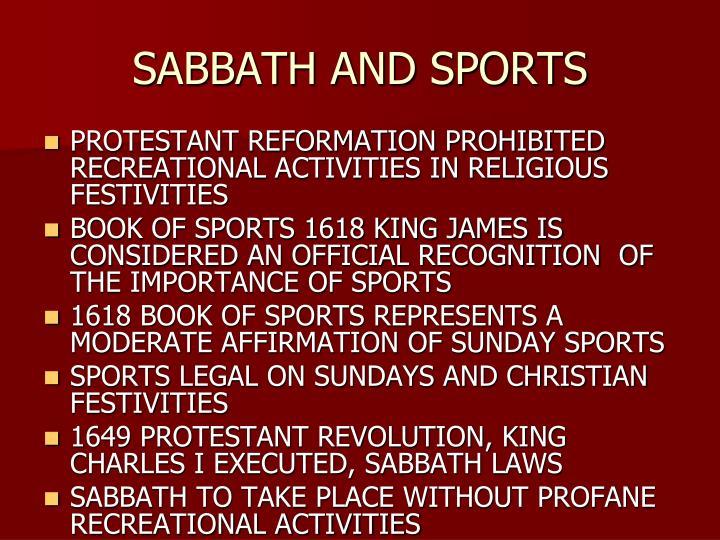 SABBATH AND SPORTS