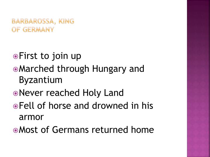 Barbarossa, King of Germany