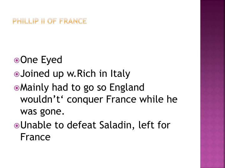 Phillip II of France