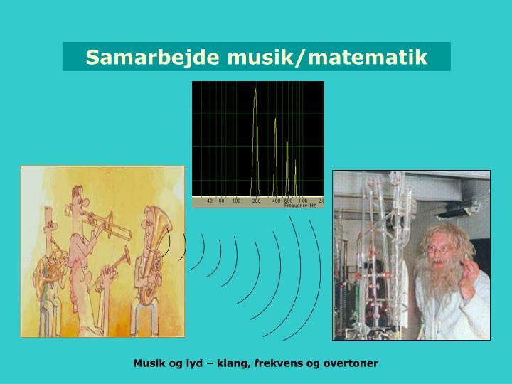 Samarbejde musik/matematik
