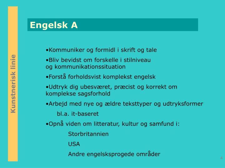 Engelsk A