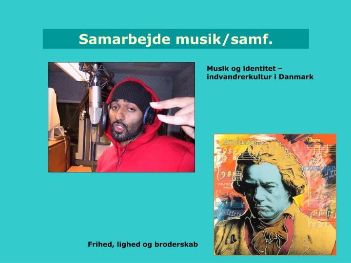 Samarbejde musik/samf.