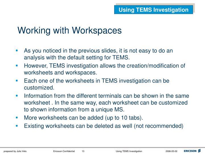 Using TEMS Investigation