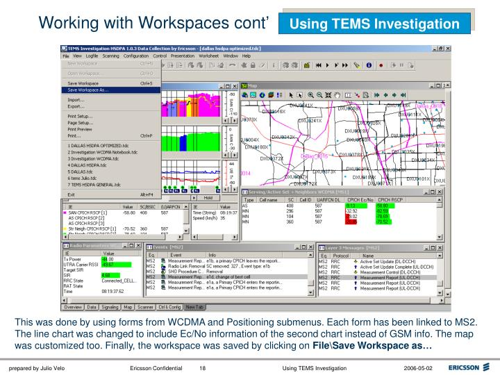 Working with Workspaces cont'