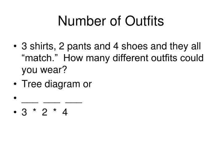 Number of Outfits