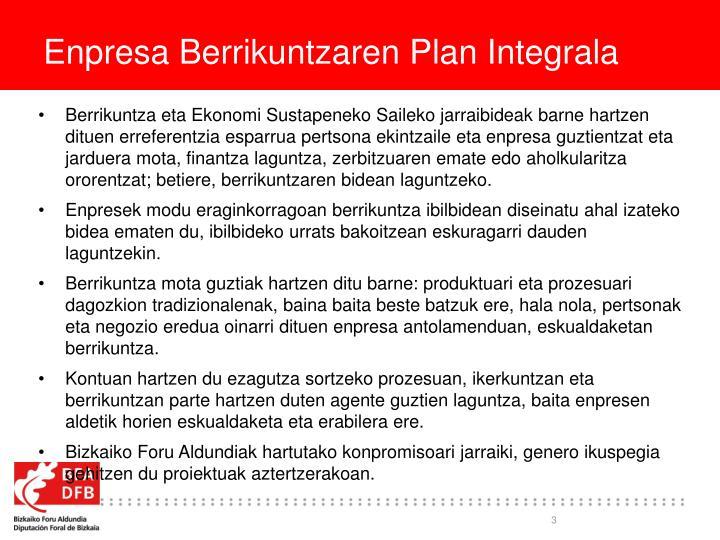 Enpresa Berrikuntzaren Plan Integrala