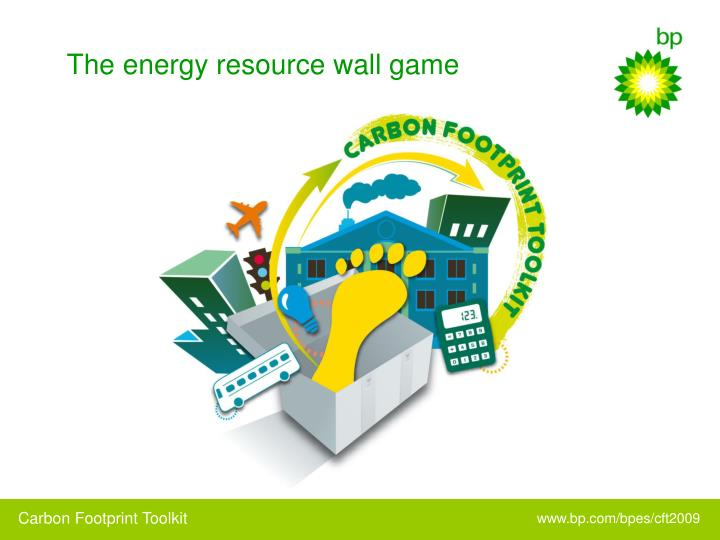 The energy resource wall game