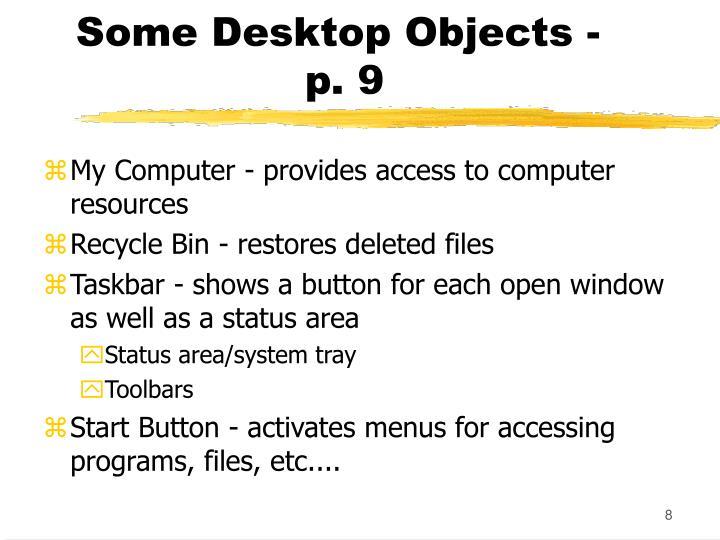 Some Desktop Objects -