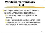 windows terminology p 2