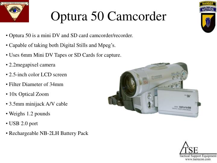 Optura 50 Camcorder