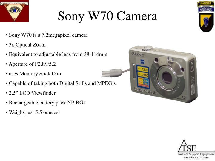 Sony W70 Camera