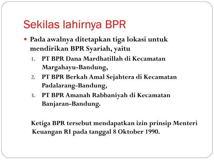 Sekilas lahirnya BPR