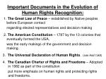 important documents in the evolution of human rights recognition