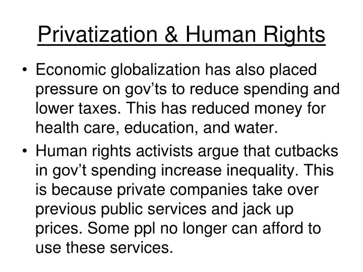 Privatization & Human Rights