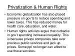 privatization human rights