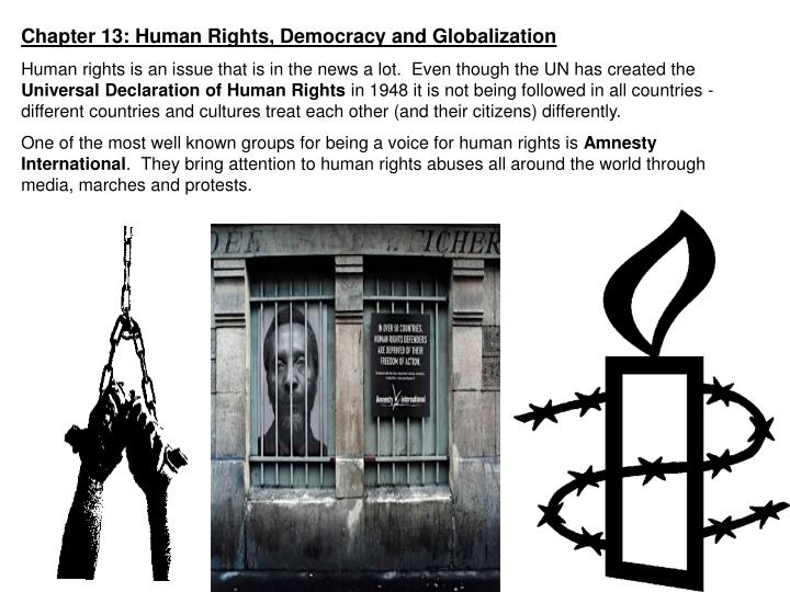 Chapter 13: Human Rights, Democracy and Globalization