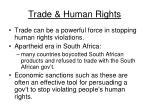 trade human rights