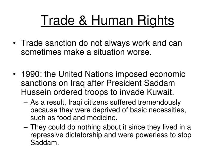 Trade & Human Rights