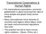 transnational corporations human rights