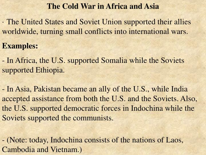 The Cold War in Africa and Asia