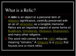 what is a relic