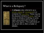 what is a reliquary