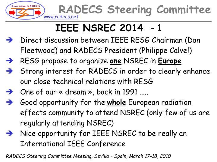 IEEE NSREC 2014