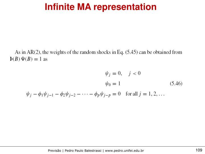 Infinite MA representation