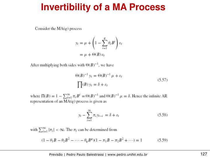 Invertibility of a MA Process