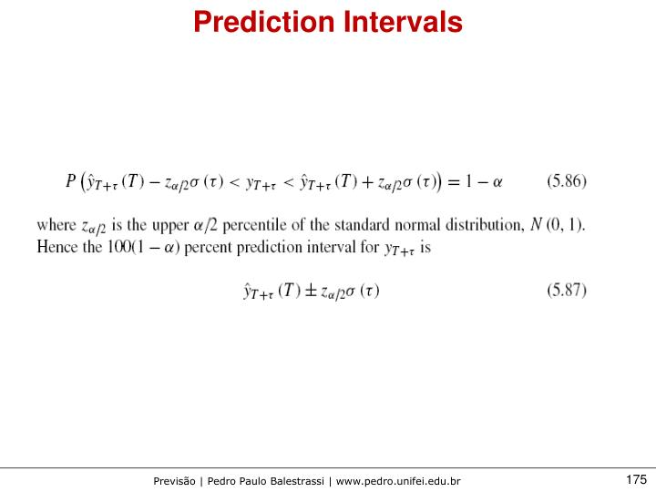 Prediction Intervals