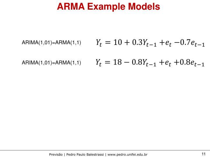 ARMA Example Models