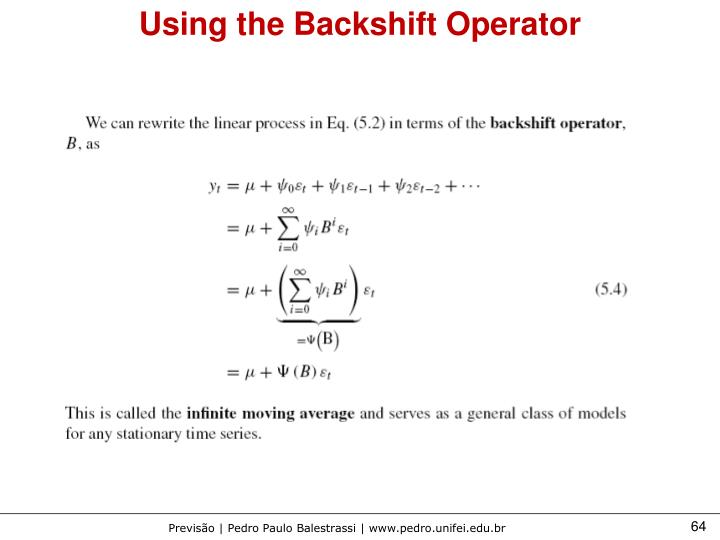 Using the Backshift Operator