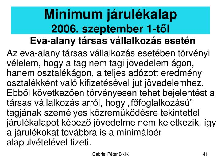 Minimum járulékalap