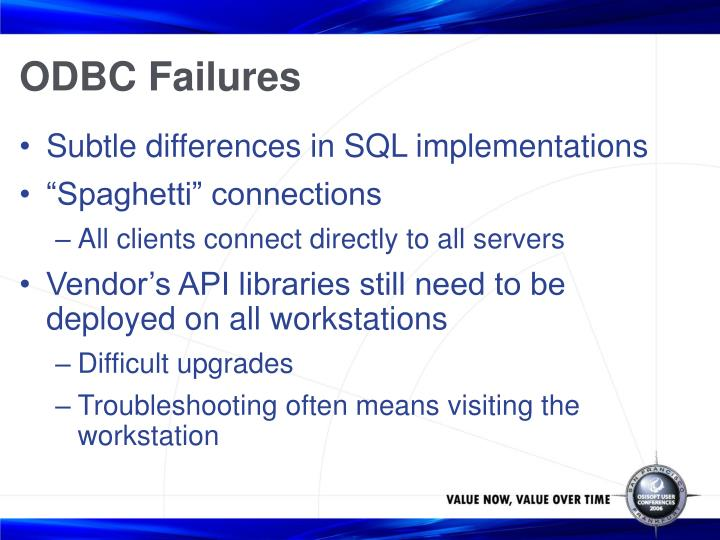 ODBC Failures