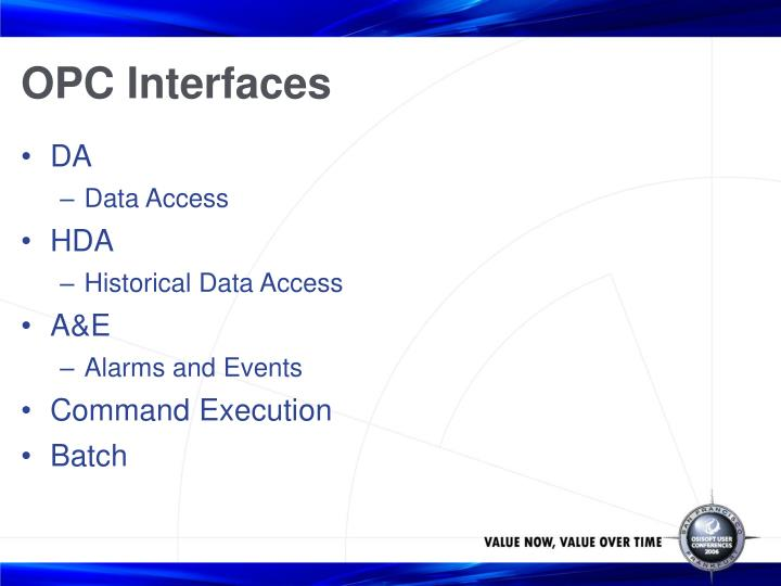 OPC Interfaces