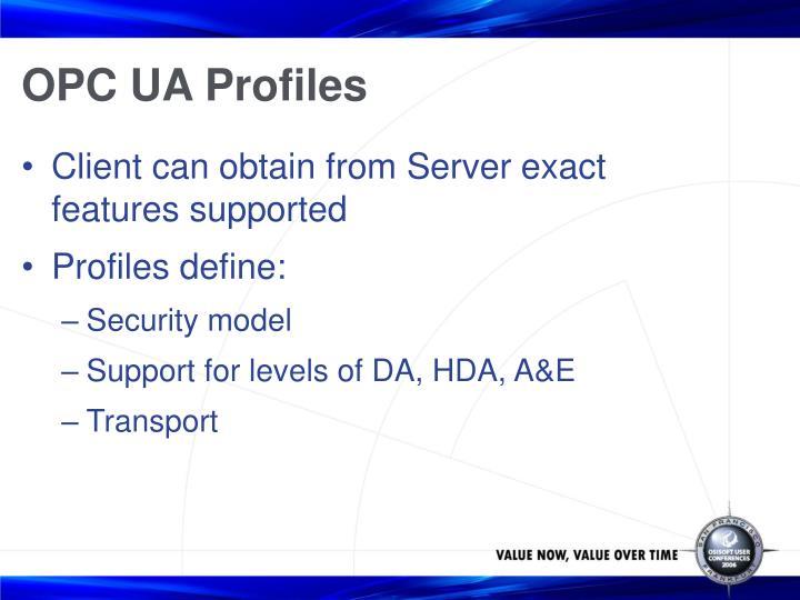 OPC UA Profiles
