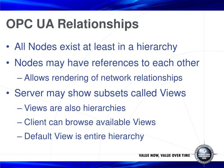 OPC UA Relationships