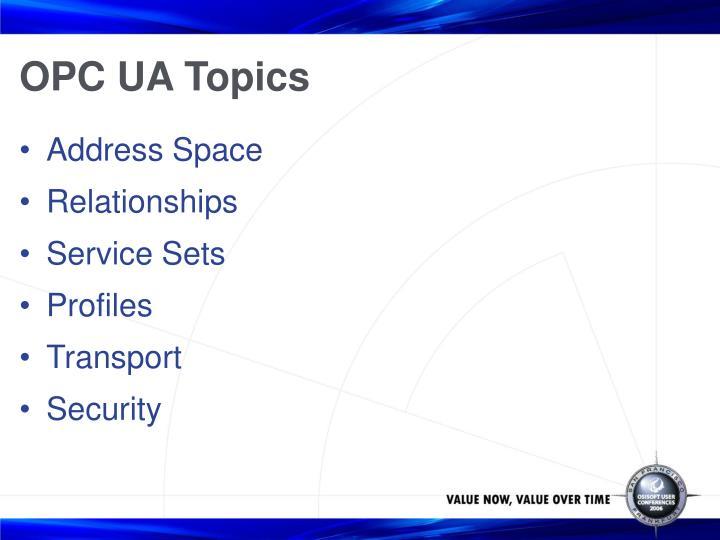OPC UA Topics