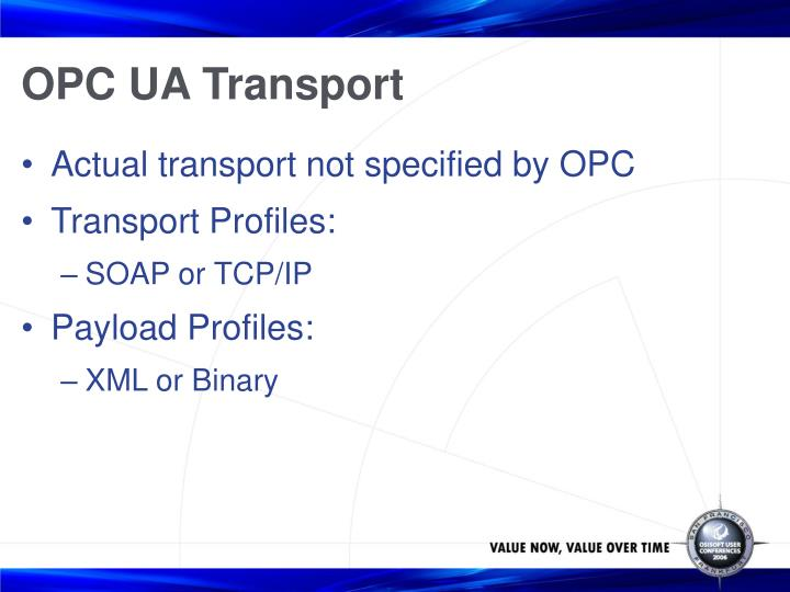 OPC UA Transport