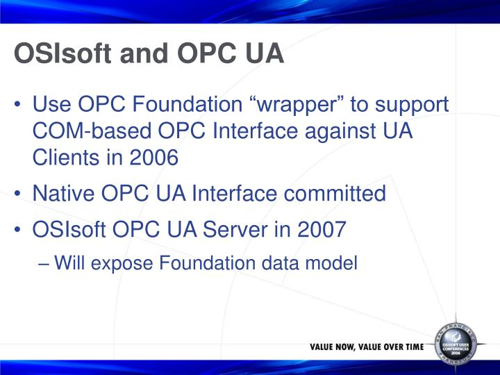 OSIsoft and OPC UA