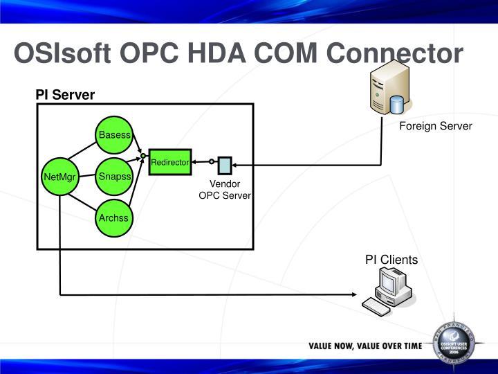 OSIsoft OPC HDA COM Connector