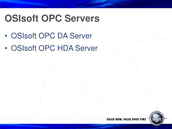 OSIsoft OPC Servers