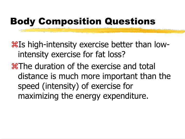 Body Composition Questions