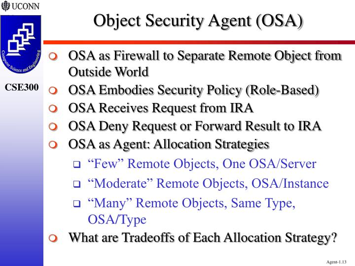Object Security Agent (OSA)