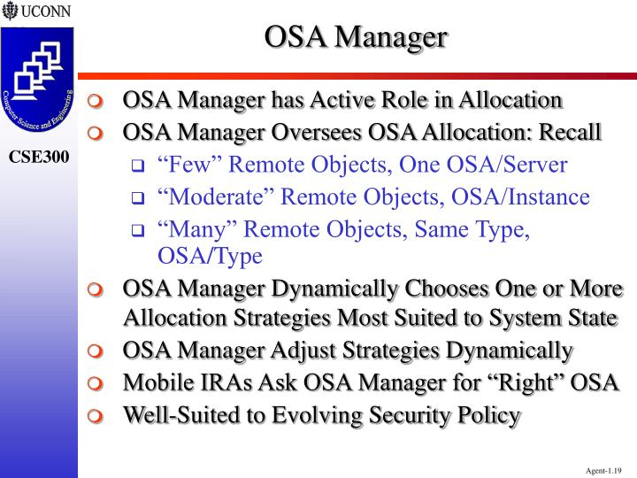 OSA Manager