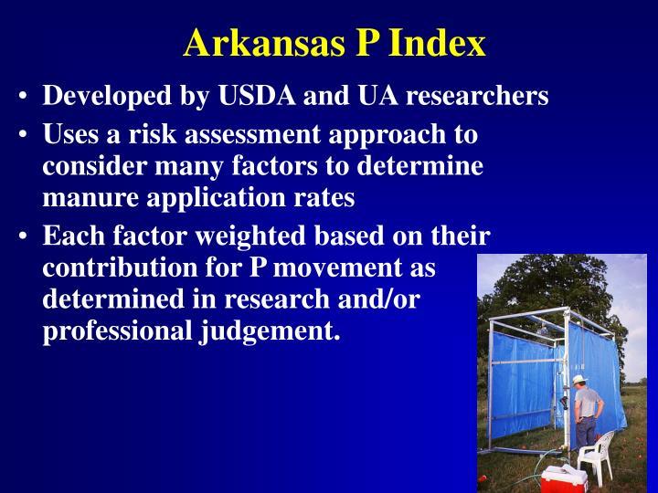 Arkansas P Index